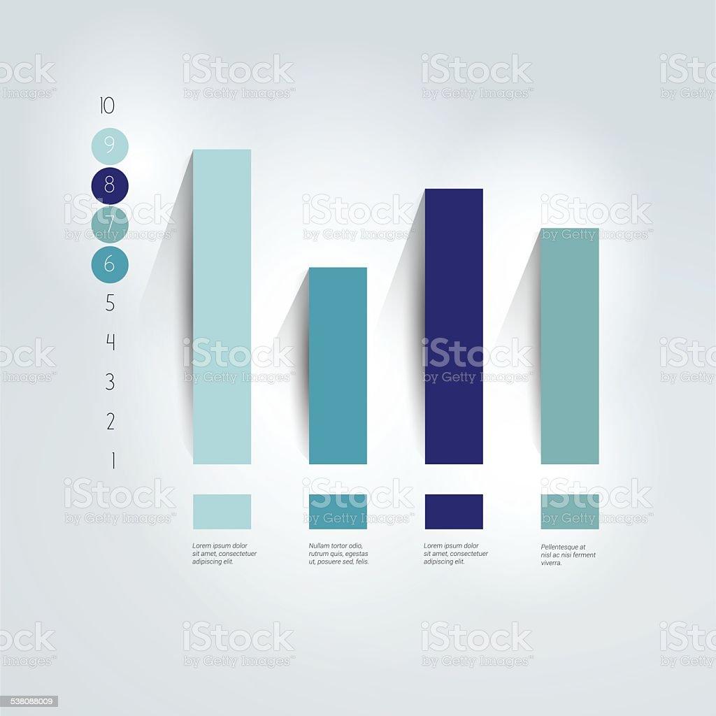 - chart, Diagramm. Einfach editierbar. Info-Grafiken-element. – Vektorgrafik