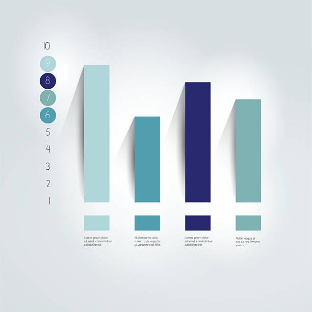 Flat chart, graph. Simply editable. Info graphics element. Flat chart, graph. Simply editable. Info graphics element. rod stock illustrations
