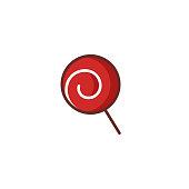 istock Flat Christmas Candy Lollipop Icon 1270429078