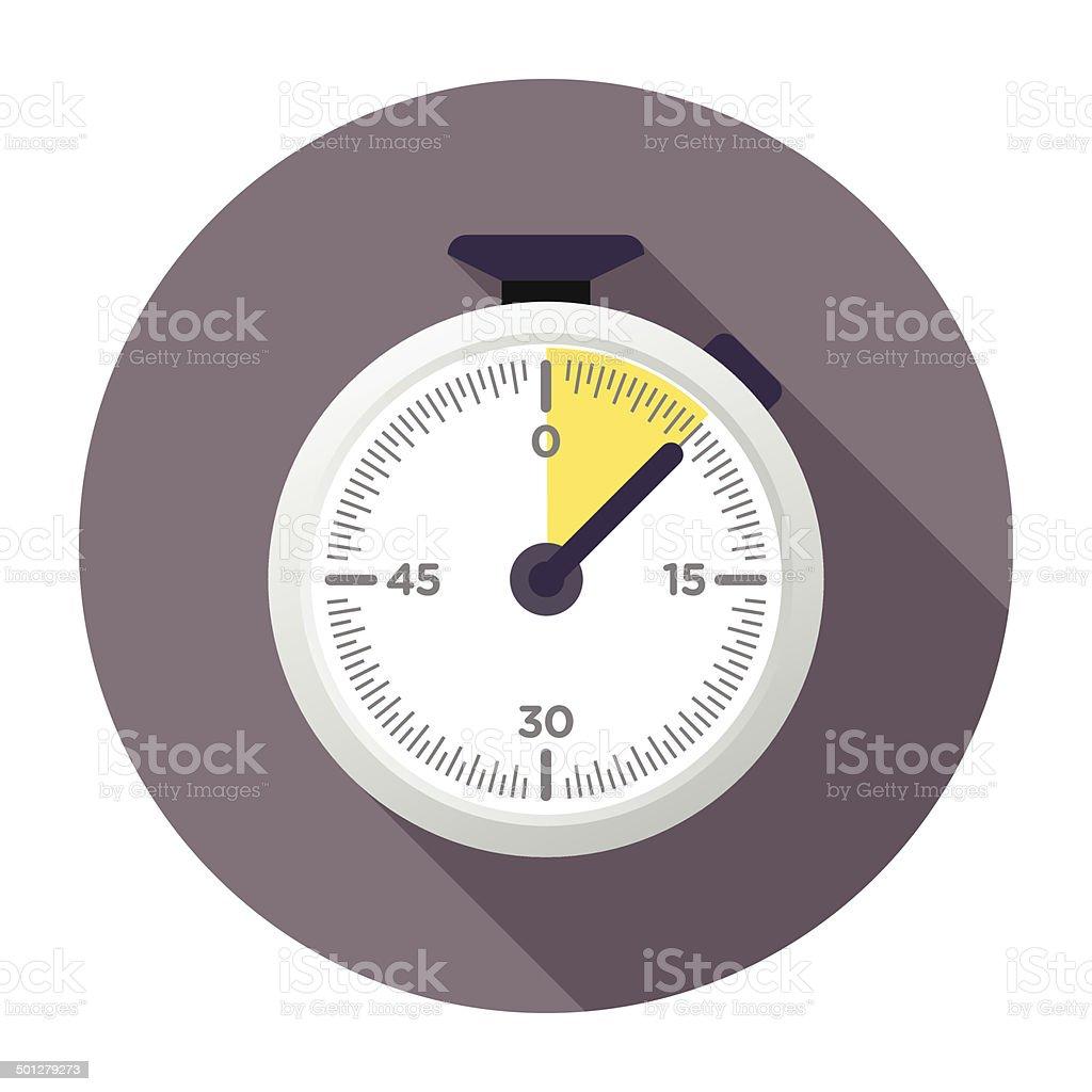Flat Chronometer Icon vector art illustration