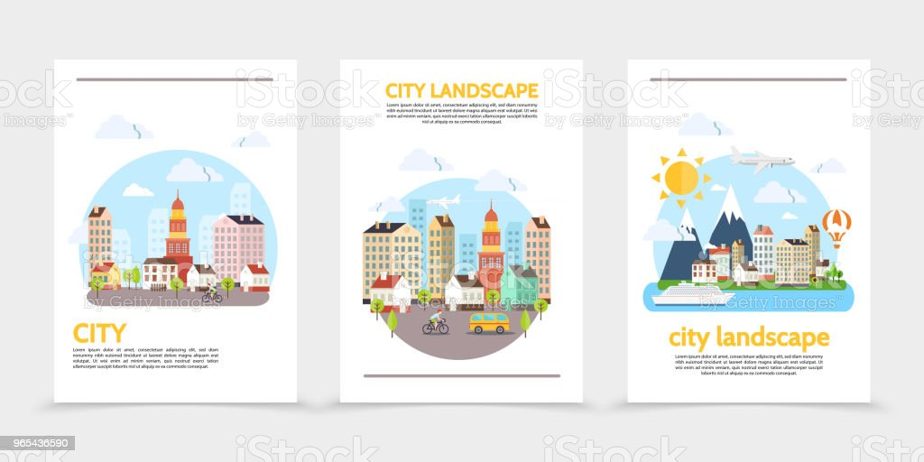 Flat City Landscape Vertical Banners royalty-free flat city landscape vertical banners stock vector art & more images of air vehicle