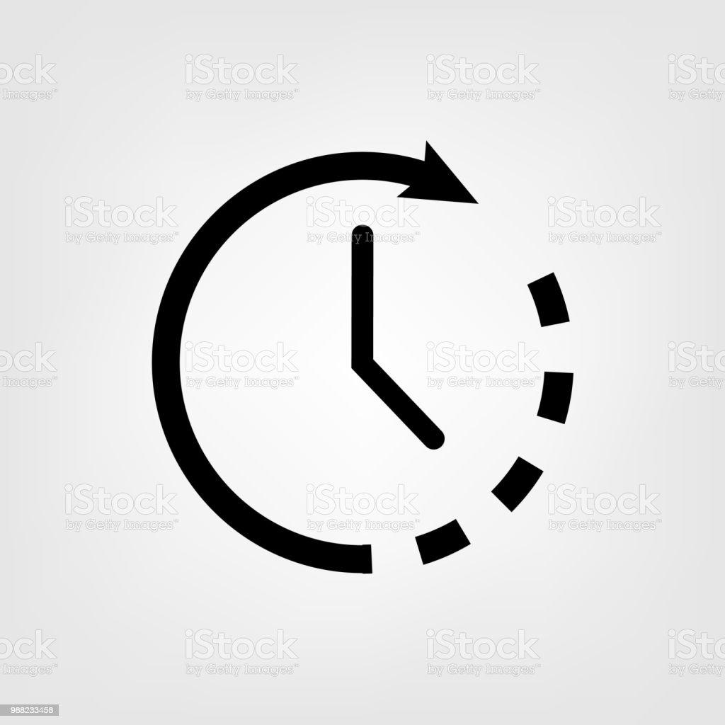 Gráfico Reloj Vector Para Icono De Plano Diseño Ilustración O8wPkn0