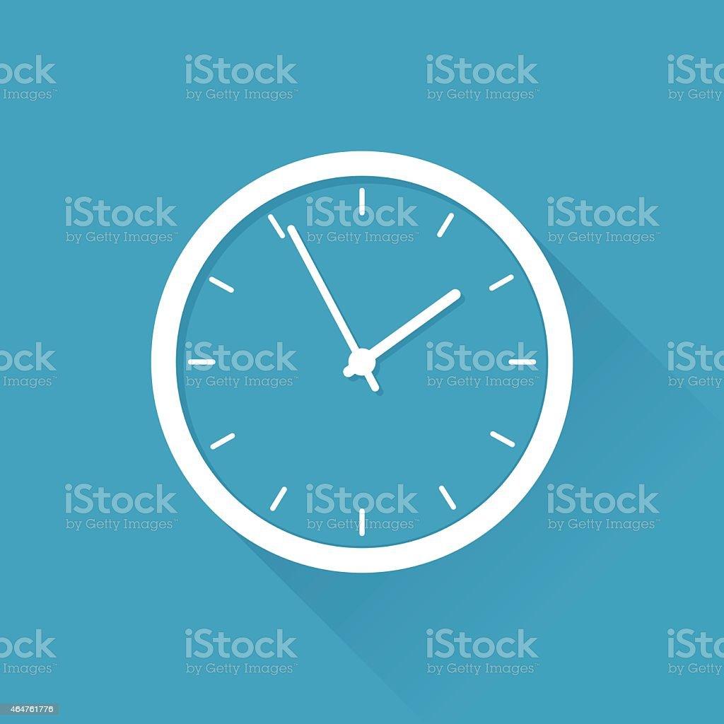 Flat Clock vector art illustration