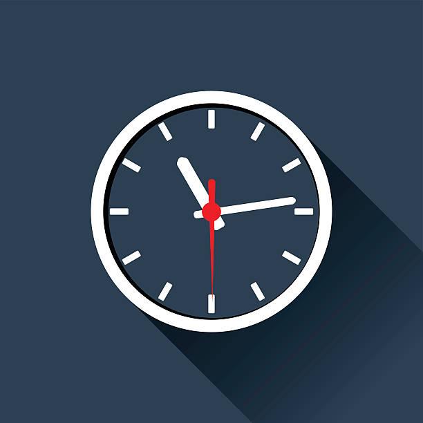 ilustraciones, imágenes clip art, dibujos animados e iconos de stock de reloj de pantalla plana - wall clock