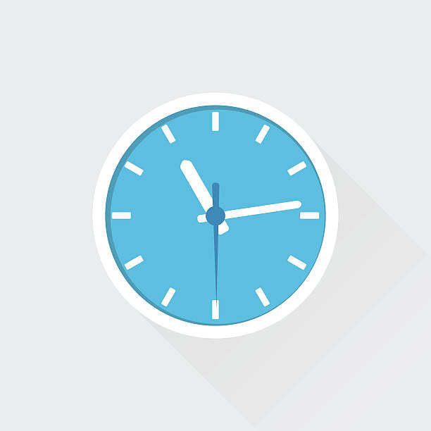 Flat Clock Flat Wall Clock. All elements are in separate layers. PDF file is available. wall clock stock illustrations