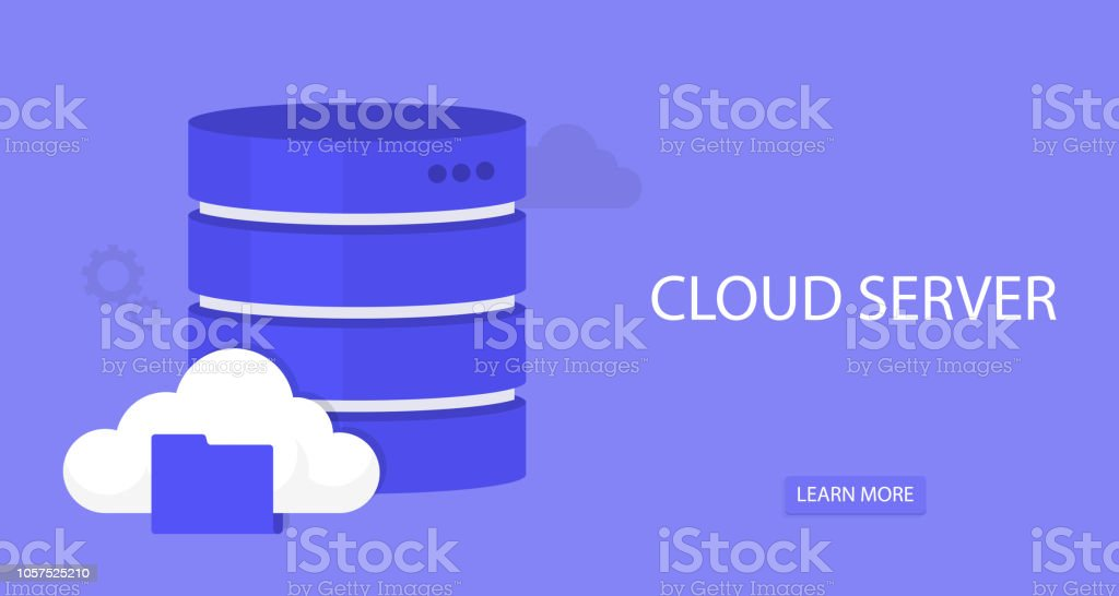 Flat Cloud Computing Background Data Storage Network
