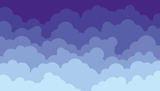 Flat Clouds Sky Design Background