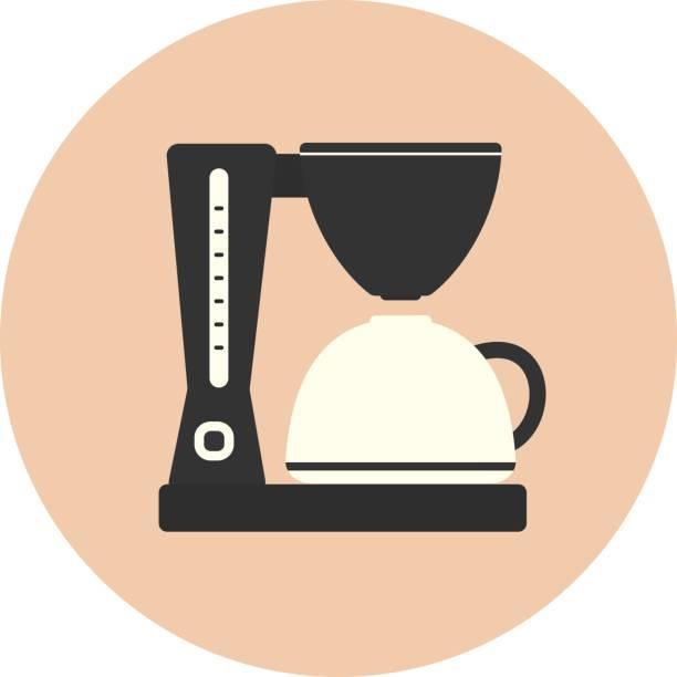 ilustrações de stock, clip art, desenhos animados e ícones de flat coffee maker machine, cafe kitchen appliance - kitchen counter