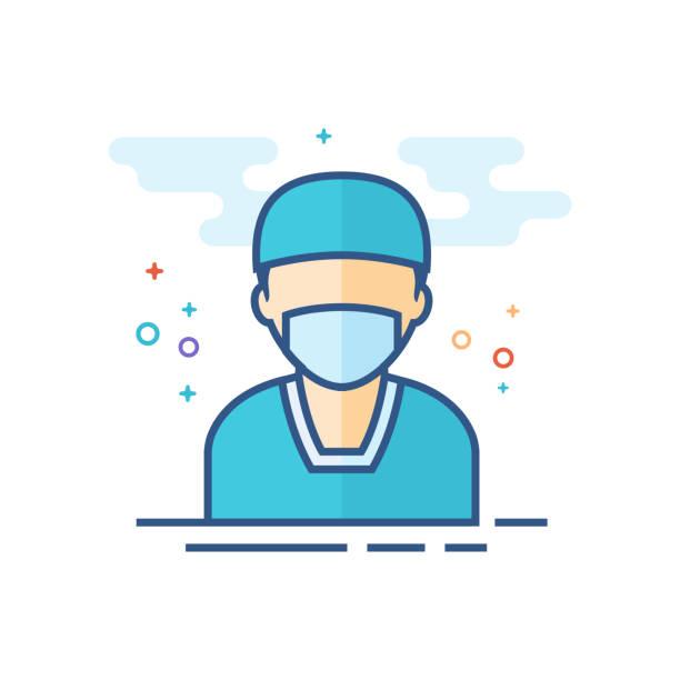平板顏色圖示-外科醫生 - surgeon 幅插畫檔、美工圖案、卡通及圖標