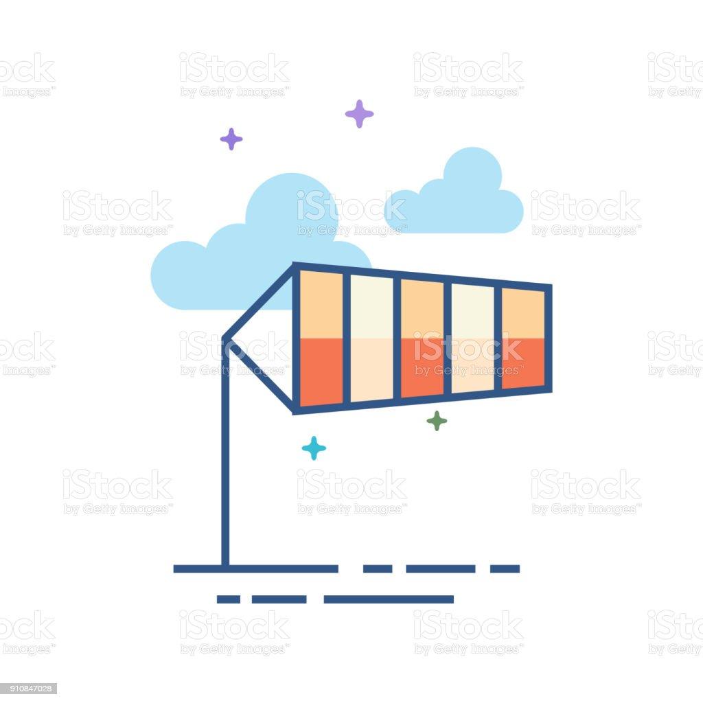 Ícone de cor lisa - cata-vento - ilustração de arte em vetor