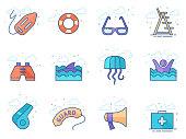 Flat color icons - Lifeguard