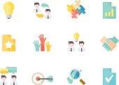 Flat Color Icons - Management