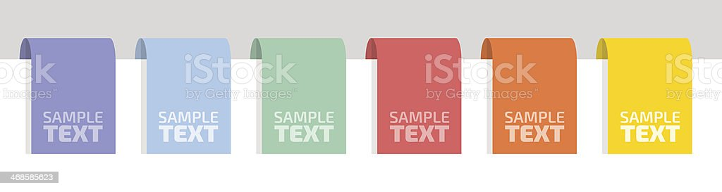 Flat color labels vector art illustration