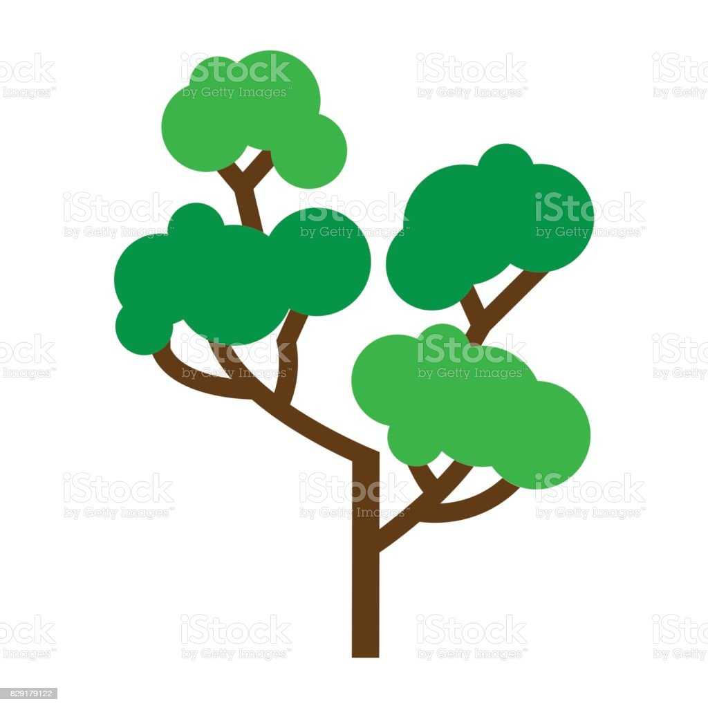 Flat Color Tree Icon Stock Vector Art & More Images of Branch ...
