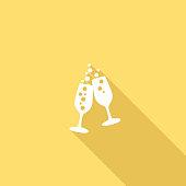 istock Flat Color UI Long Shadow Website Wedding Icon 543830920