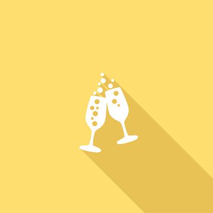 Flache Farbe Ui Langen Schatten Website Hochzeitsymbol Stock Vektor Art und mehr Bilder von Bunt - Farbton