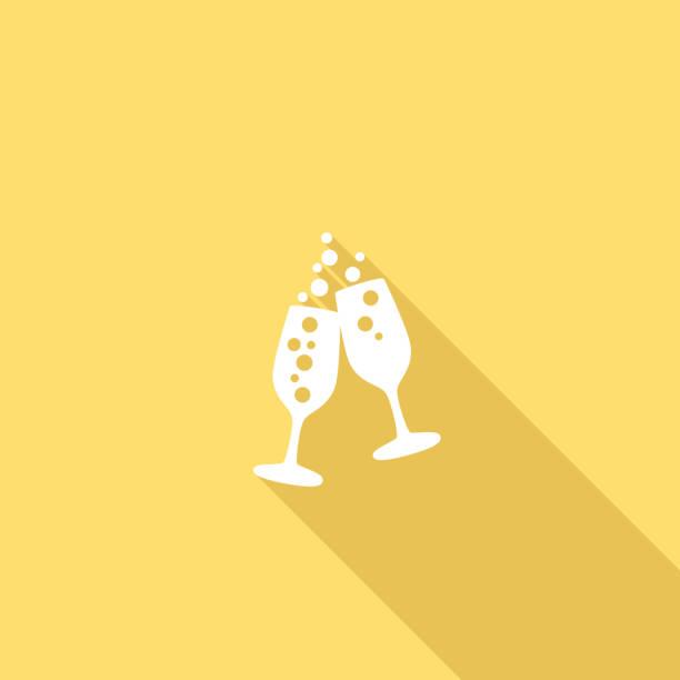 ilustrações, clipart, desenhos animados e ícones de cores ui plana longa sombra ícone do site de casamento - brinde