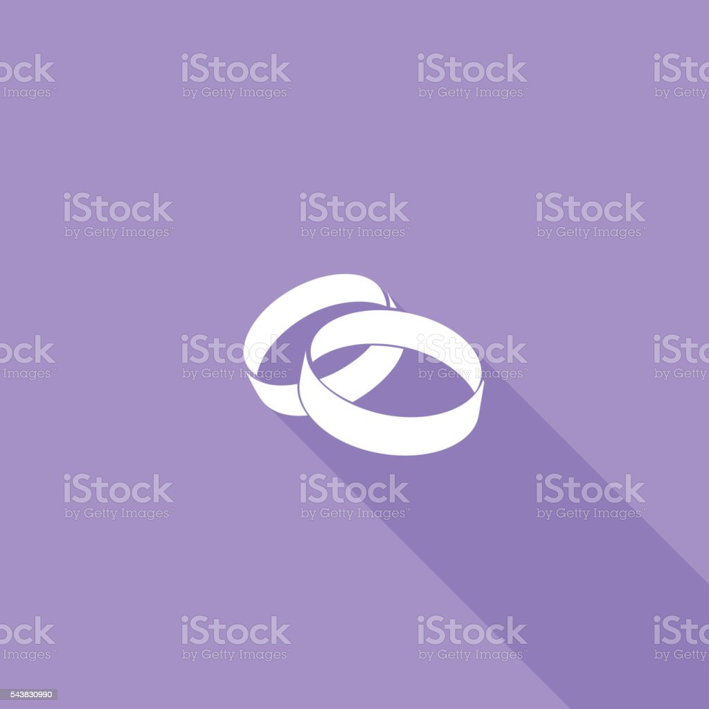 Flat Color UI Long Shadow Website Wedding Icon vector art illustration