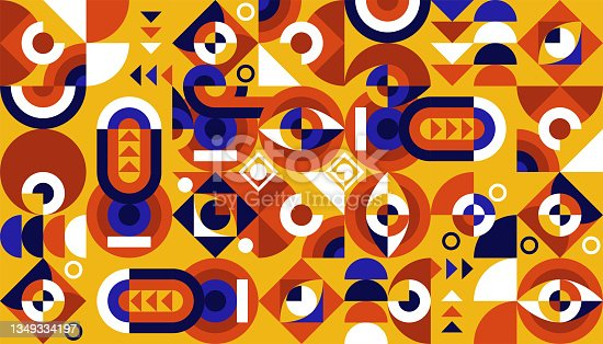 istock flat colorful abstract geometric shapes background template 1349334197