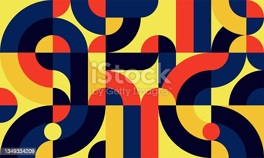 istock flat colorful abstract geometric shapes background template 1349334209