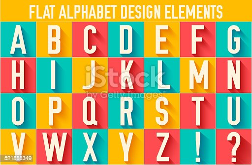 flat colorful letter of the alphabet