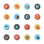 Flat Controls icons