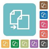 Flat copy file icons