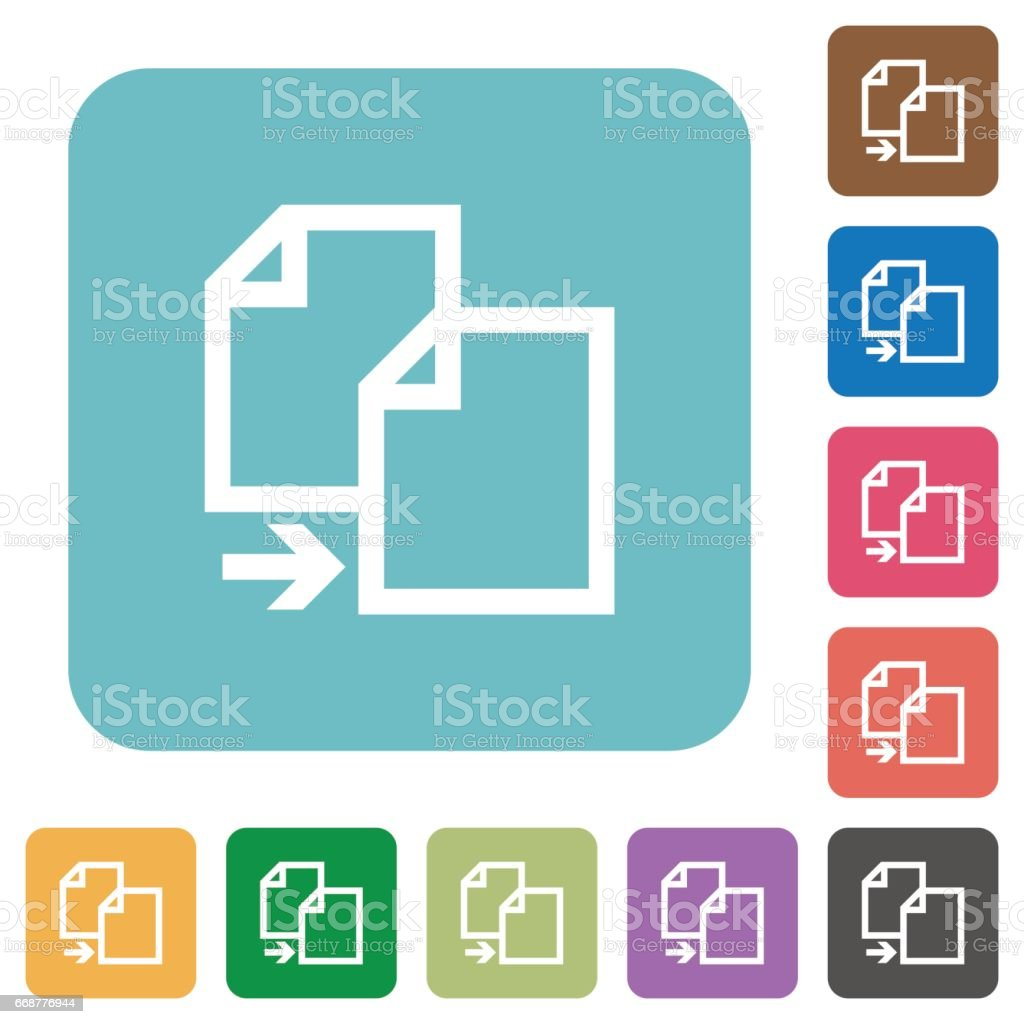 Flat copy file icons vector art illustration