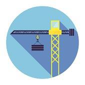 Flat Crane Icon