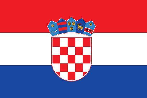 Flat Croatia Flag Vector Stock Illustration - Download Image Now - iStock