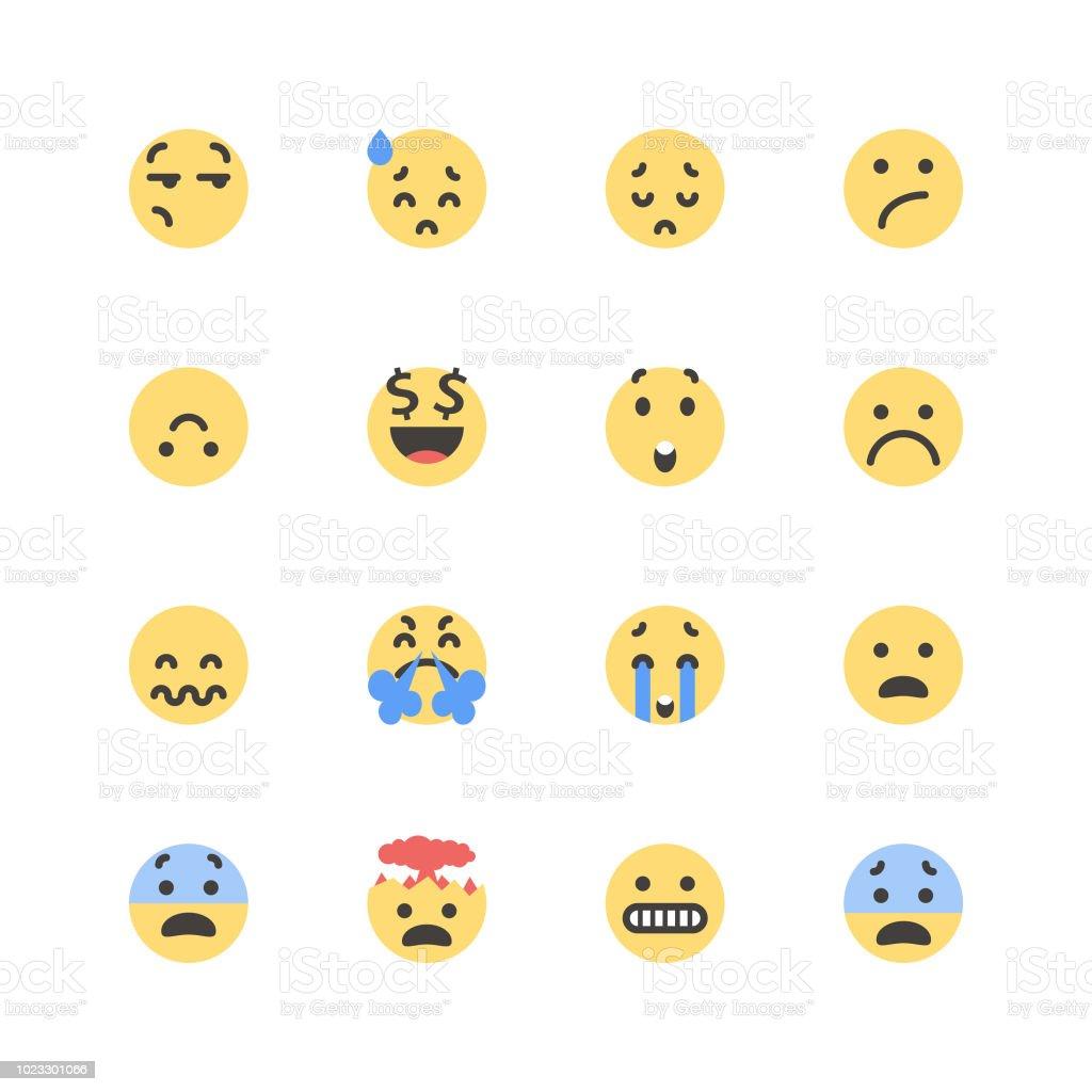 Piso lindos emoticons set 1 - ilustración de arte vectorial