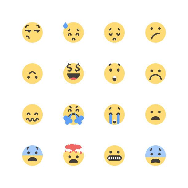 ilustraciones, imágenes clip art, dibujos animados e iconos de stock de piso lindos emoticons set 1 - emoji perezoso