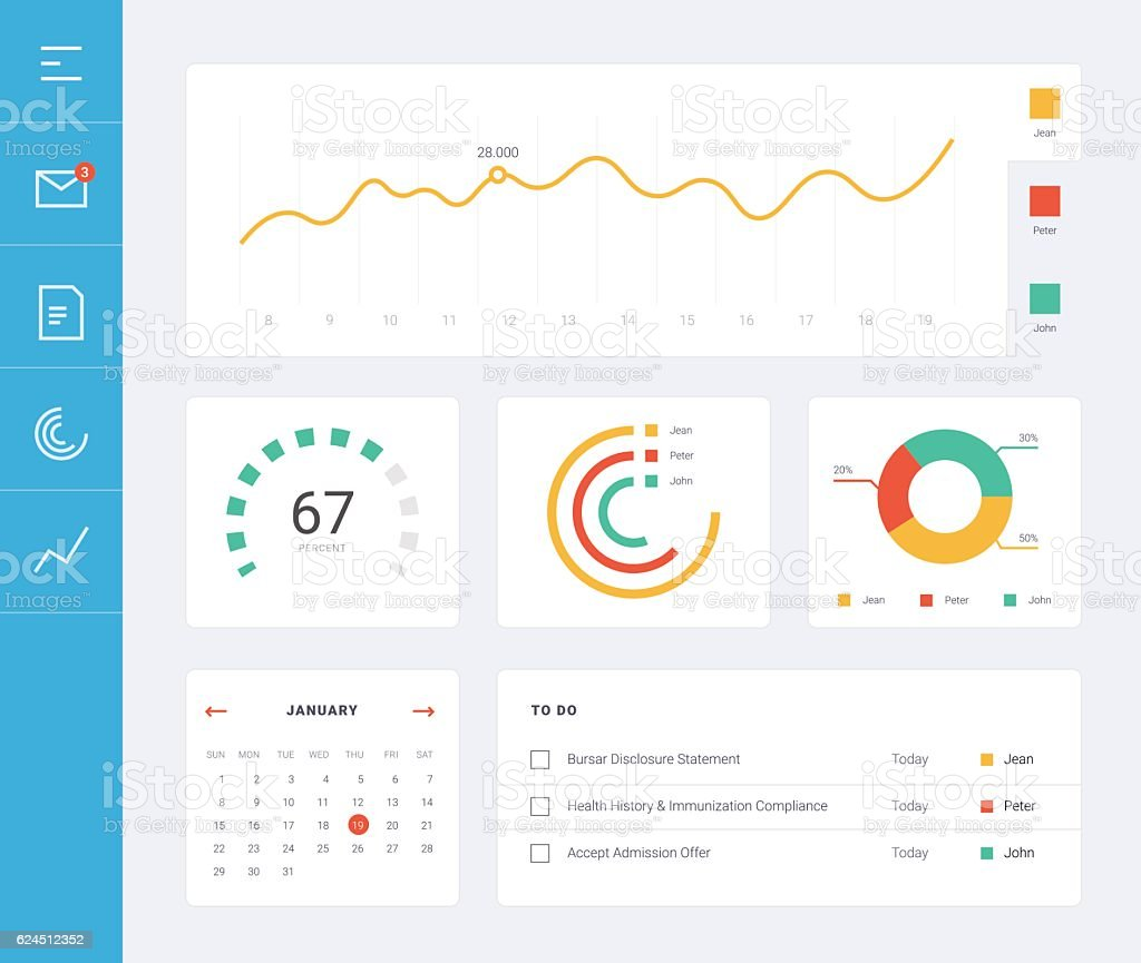 Flat dashboard ui