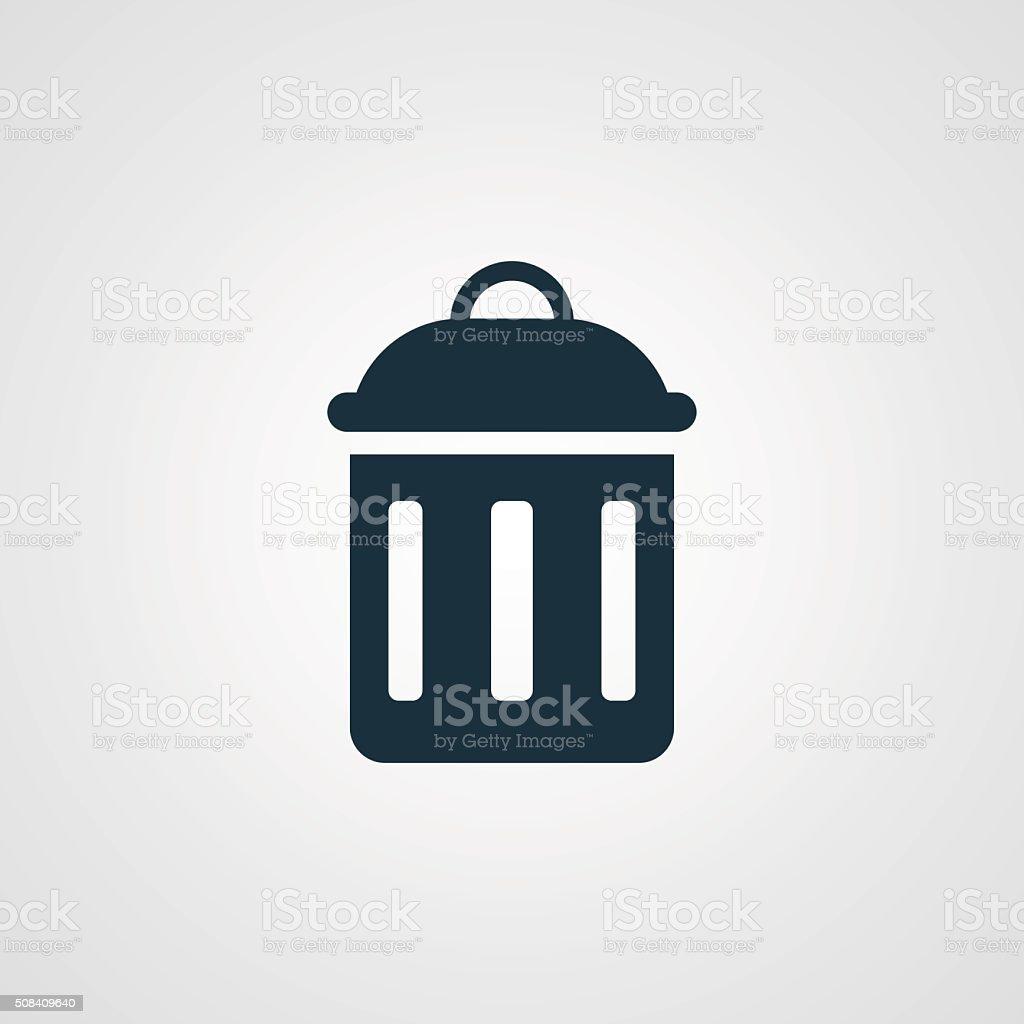 Flat Delete icon vector art illustration