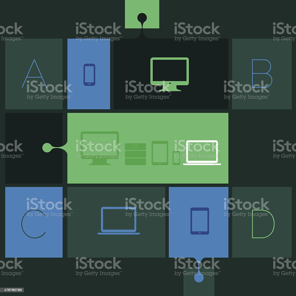 Flat design abstract interface royalty-free flat design abstract interface stock vector art & more images of backgrounds