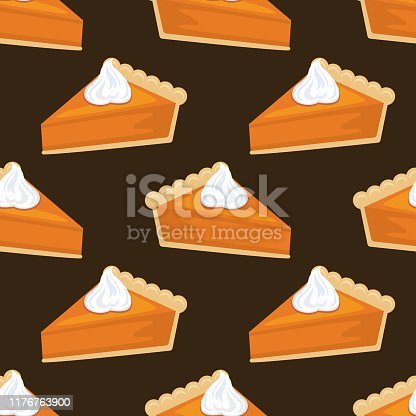 Cute seamless fall pattern in flat design style. Autumn colors.