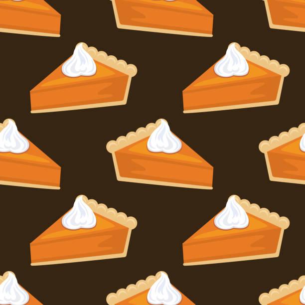 平面設計秋季無縫南瓜圓形圖案 - pumpkin pie 幅插畫檔、美工圖案、卡通及圖標