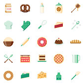 Flat Design Baking Icon Set