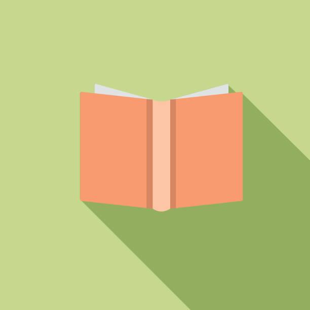 Flat Design Book Icon vector art illustration