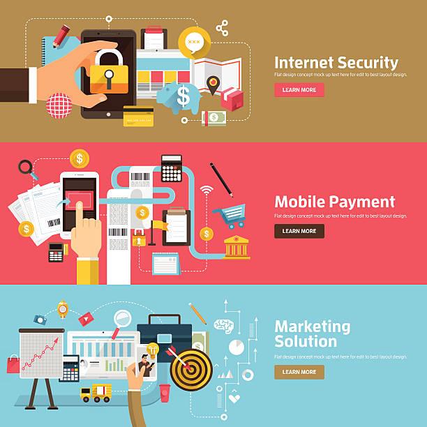 плоский дизайн бизнес-проблемы - credit card stock illustrations