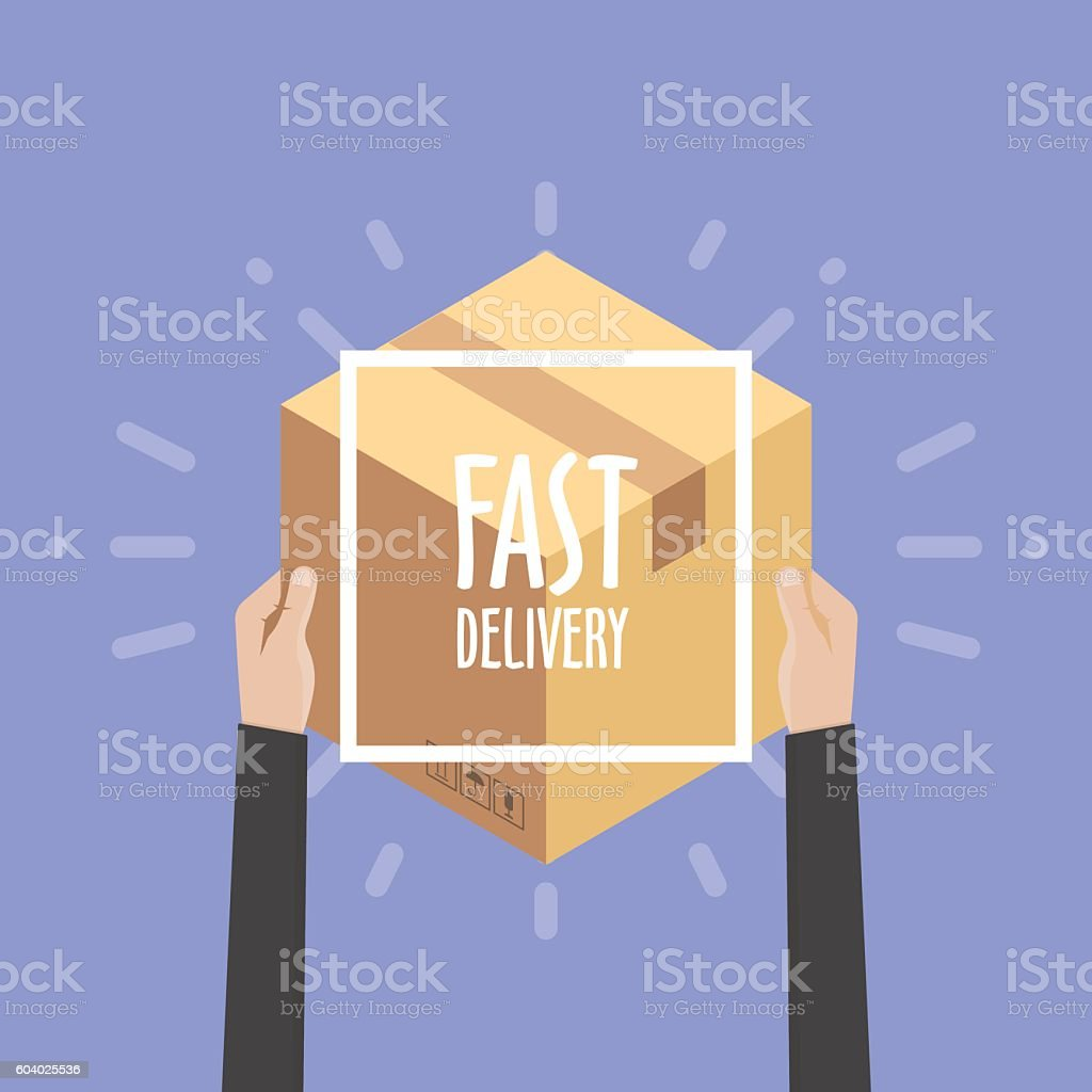 Flat design colorful vector illustration concept for delivery service, e-commerce, - ilustración de arte vectorial