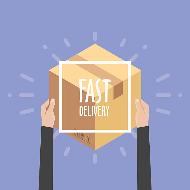 flat design colorful vector illustration concept for delivery service, e-commerce, - 出産点のイラスト素材/クリップアート素材/マンガ素材/アイコン素材