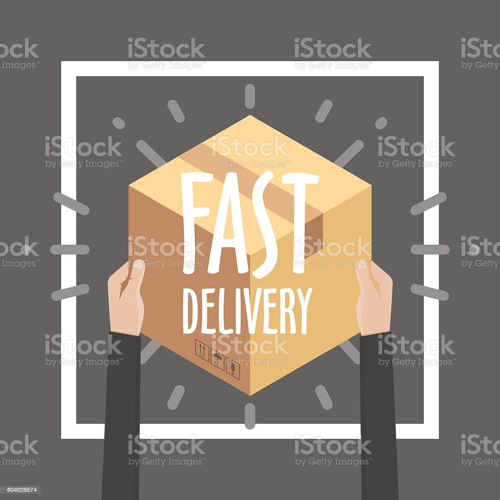 Flat design colorful vector illustration concept for delivery service, e-commerce, – Vektorgrafik