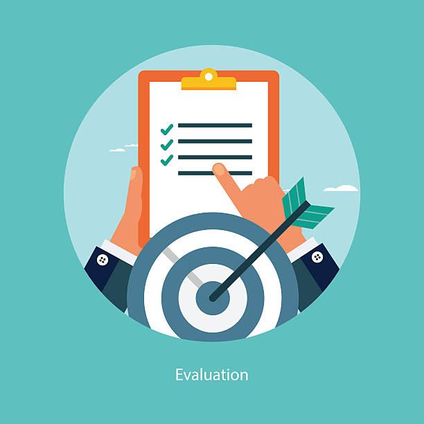 Flat design concept for success in business vector art illustration