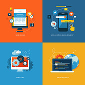 Icons for web design, application development, services and programming