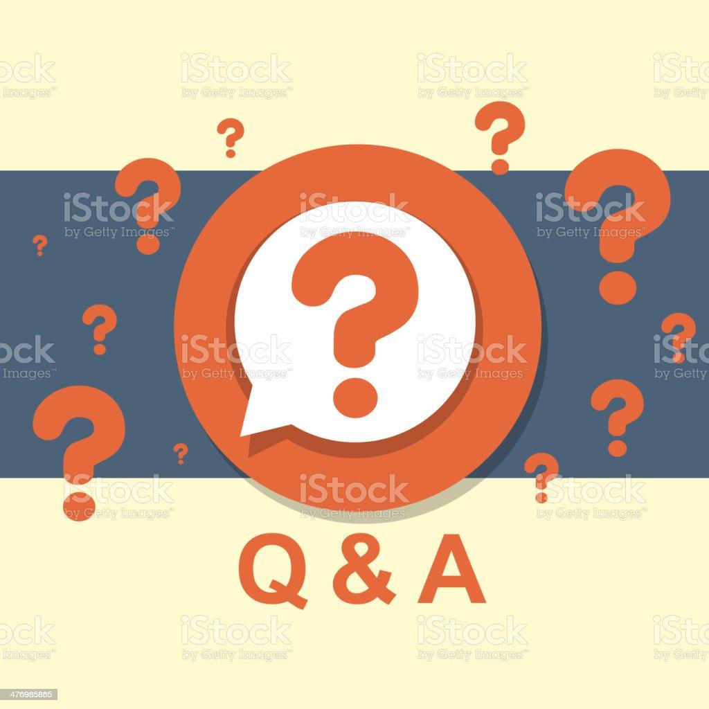 flat design concept of Q&A vector art illustration