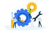 Vector illustration for website banner, marketing material, business presentation, online advertising.
