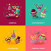 Flat design concepts of carnival
