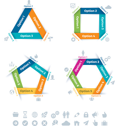 Flat Design Connection Infographic Symbols