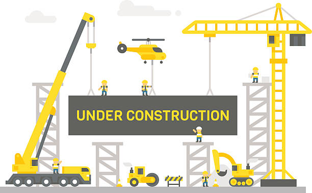 Royalty Free Construction Site Clip Art, Vector Images ...